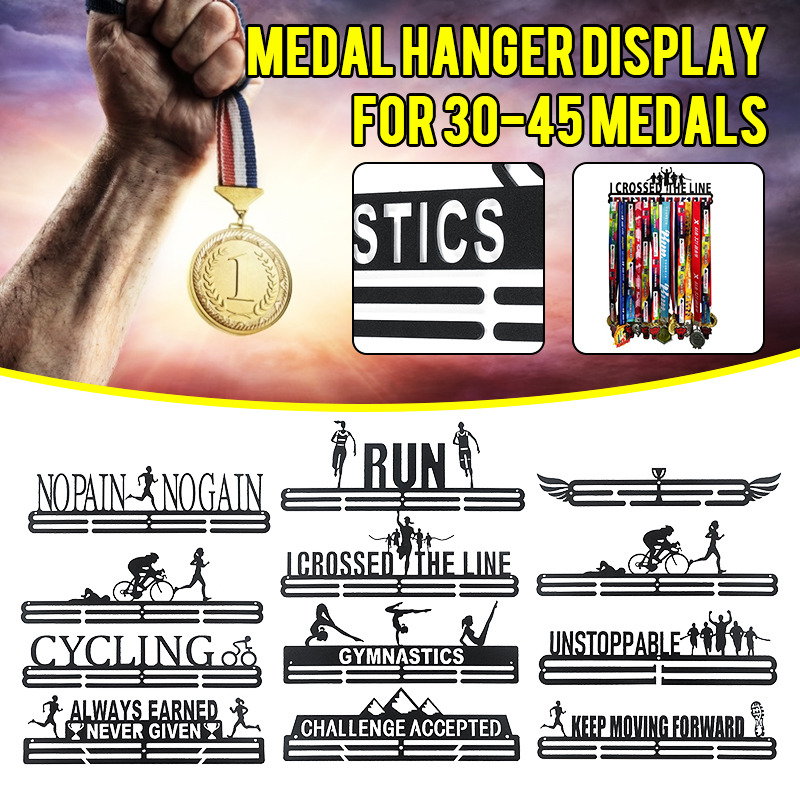 Medals Hanger Display Rack Holder For Sport Medals Creatives Stainless Steel Wire Medals Hanger Running Swimming Gym Gift Decor