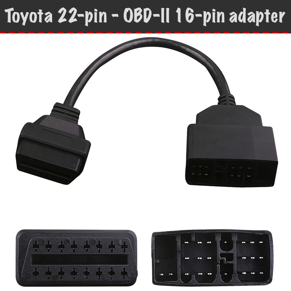 <font><b>Toyota</b></font> <font><b>adapter</b></font> <font><b>22</b></font>-<font><b>pin</b></font>-obd-ii 16-<font><b>pin</b></font>, diagnostic connector for Honda, <font><b>OBD2</b></font> <font><b>adapter</b></font> cable, <font><b>OBD2</b></font> diagnostic <font><b>adapter</b></font> image