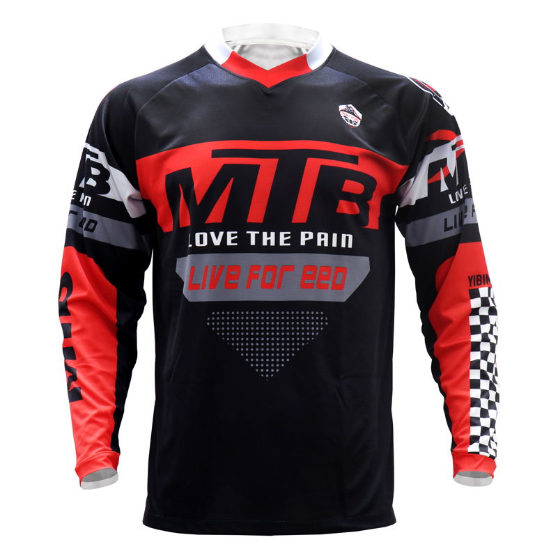 Downhill mountain bike Jersey Off Road Enduro MTB BMX Jersey Bike Cycling T shirt Motocross Jersey breathable DH quick dry