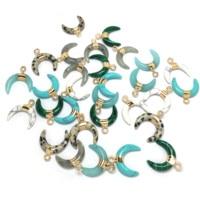 Offre spéciale forme de lune pendentifs en pierre naturelle et collier pendentifs breloques pour la fabrication de bijoux fournitures collier ajusté 16x17mm