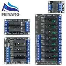 10 sztuk 5V 1 2 4 8 kanałowy SSR G3MB-202P półprzewodnikowy moduł przekaźnikowy 240V 2A wyjście z rezystancyjnym bezpiecznikiem dla ARDUINO Diy Kit