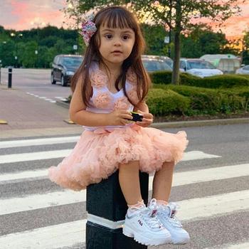 Gorące dziewczyny Tutu spódnice stałe puszysty tiul księżniczka suknia Pettiskirt dzieci balet występ na imprezie spódnice dla dzieci W-PP001 tanie i dobre opinie Prowow Na co dzień CN (pochodzenie) Pasuje prawda na wymiar weź swój normalny rozmiar NYLON Floral Ruffles Girl Skirts