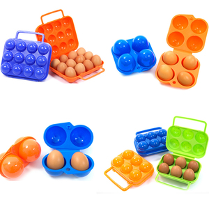 2/4/6/12 Grid Egg Storage Box Container Portable Plastic Egg Holder for Outdoor Camping Picnic Eggs Box Case Kitchen Organizer