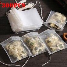 300 шт одноразовые пакетики для чая фильтровальные пакетики для заварки чая со струнным заживающим уплотнением, пищевой нетканый тканевый ф...