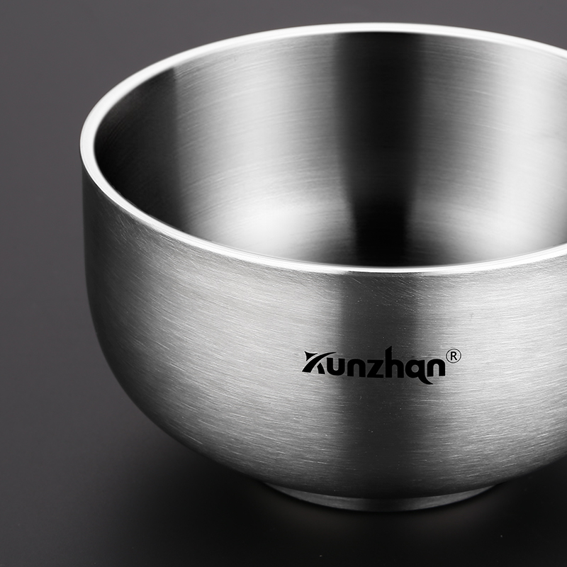 304 Stainless Steel Bowl Household Bowl Double Insulation Heat-proof Children's Rice Bowl Anti-fall Bowls