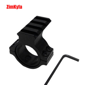 Image 1 - 30mm Ring Scope Flashlight Mount Adaptor Clamp With 20mm Weave Picatinny Rail