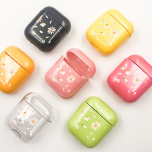Colourful Daisy Earphone Case For Apple airpods Cartoon Bluetooth Airpods Transparent Headphone Hard