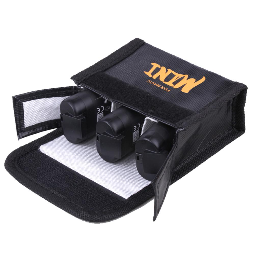 Mini Storage Bag For DJI Mavic Drone Battery Shock-proof Battery Explosion-proof Safety Protective Case