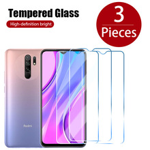 3PCS Clear Protective Glass Film On Redmi Note 8 7 6 5 Pro 8T 5A 4X Screen Protector For Xiaomi Redmi Note 10 9 Pro Max 10S 9S