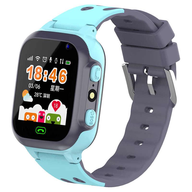 Z1 Smart Watch Kids Lbs Tracker Watch Bayi dengan Kamera Senter Panggilan Darurat SOS Jam Anak Ponsel Jam Tangan