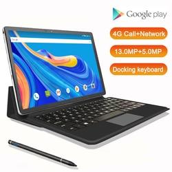 Version mondiale 11.6 pouces 2 en 1 tablette avec clavier 4G téléphone tablette pc android GPS MT6797 10 cœurs double caméra 13MP 1920*1080