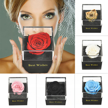 Ручная работа, настоящая Роза, ювелирная коробка, держатель, беспочвенные цветы, Forever Blossom, свадебный подарок на день рождения, набор для женщин