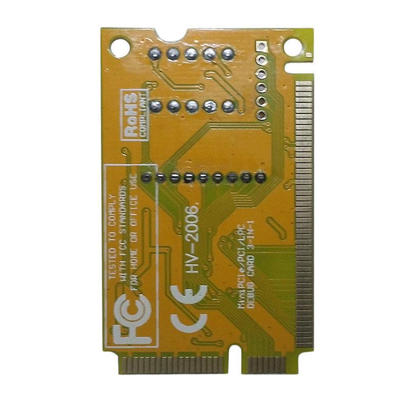 2-Digit Portable Computer PC Mini PCI PCI-E LPC Laptop Analyzer Tester Mother Board Debug Checker Diagnostic Card 5