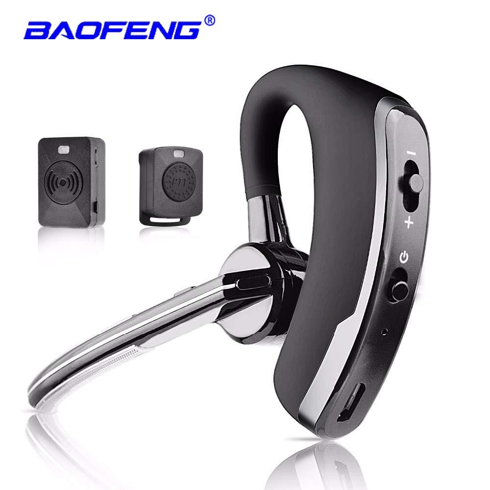 Wireless Walkie Talkie Bluetooth Ptt Headset Earpiece For Baofeng K Port Microphone Headset Adapter Baofeng UV-5R UV-82 Earphone