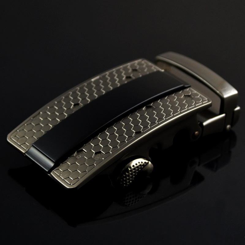New Genuine Men's Belt Head, Belt Buckle, Leisure Belt Head Business Accessories Automatic Buckle Width 3.5CM Belts LY125-0352
