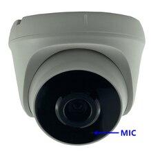 MIC Audio F1.0 StarLight IP Della Cupola Della Macchina Fotografica 3MP 2304*1296 Illuminazione Bassa Sony IMX307 + 3516EV200 H.265 650nm Filtro tutti i Colori CMS