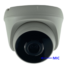Micro Audio F1.0 StarLight caméra dôme IP 3MP 2304*1296 faible éclairage Sony IMX307 + 3516EV200 H.265 650nm filtre toutes les couleurs CMS