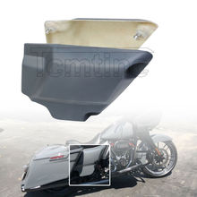 Motorcycle Fiberglass Battery Side Cover Panel Fit For Harley Touring Baggers Road King Street Electra Glide 2014-2021