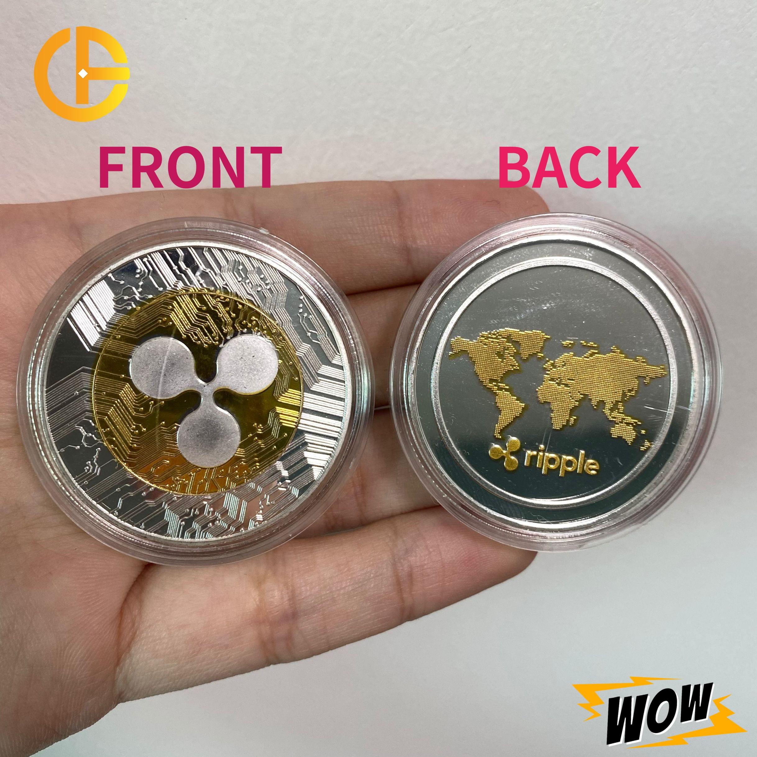 FLC волнистая невалютная монета, физическая серебряная и позолоченная памятная криптовалюта, коллекционный отличный подарок