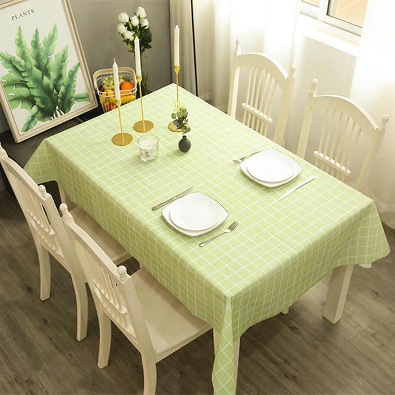 שולחן בד PEVA נגד זיהום Antependium פוליאסטר סיבי מטבח לחיות משפחה מפנק עמיד למים Oilproof ארוחת ערב מלבני