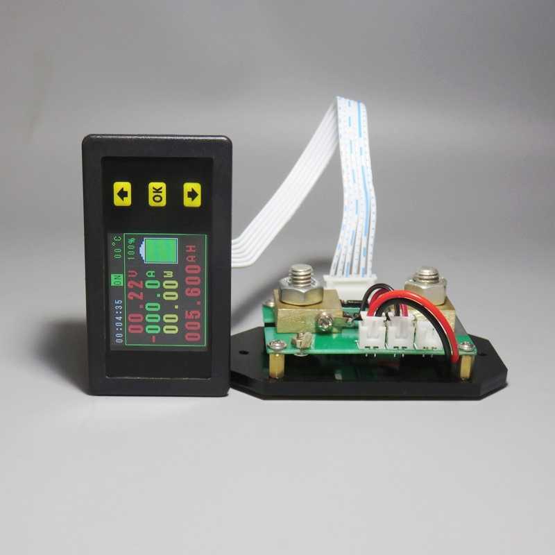 DC 120 V 100 A 200 A 500 A LCD Combo Meter Spannung Strom Strom KWh Watt Meter 12 V 24 V 48 V 96 V Kapazit/ät Power Monitoring