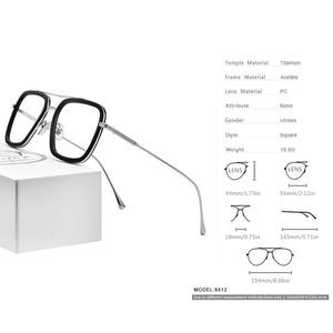 Image 3 - FONEX Pure Titanium Acetate Men Retro Tony Stark Glasses Frame Myopia Optical Edith Prescription Eyeglasses for Women 8512