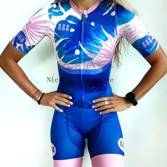 Roupa de ciclismo feminina manga curta, equipamento de equipe corporal sexy de tri skinsuit, roupas de ciclismo personalizadas, triathlon, 2019 5