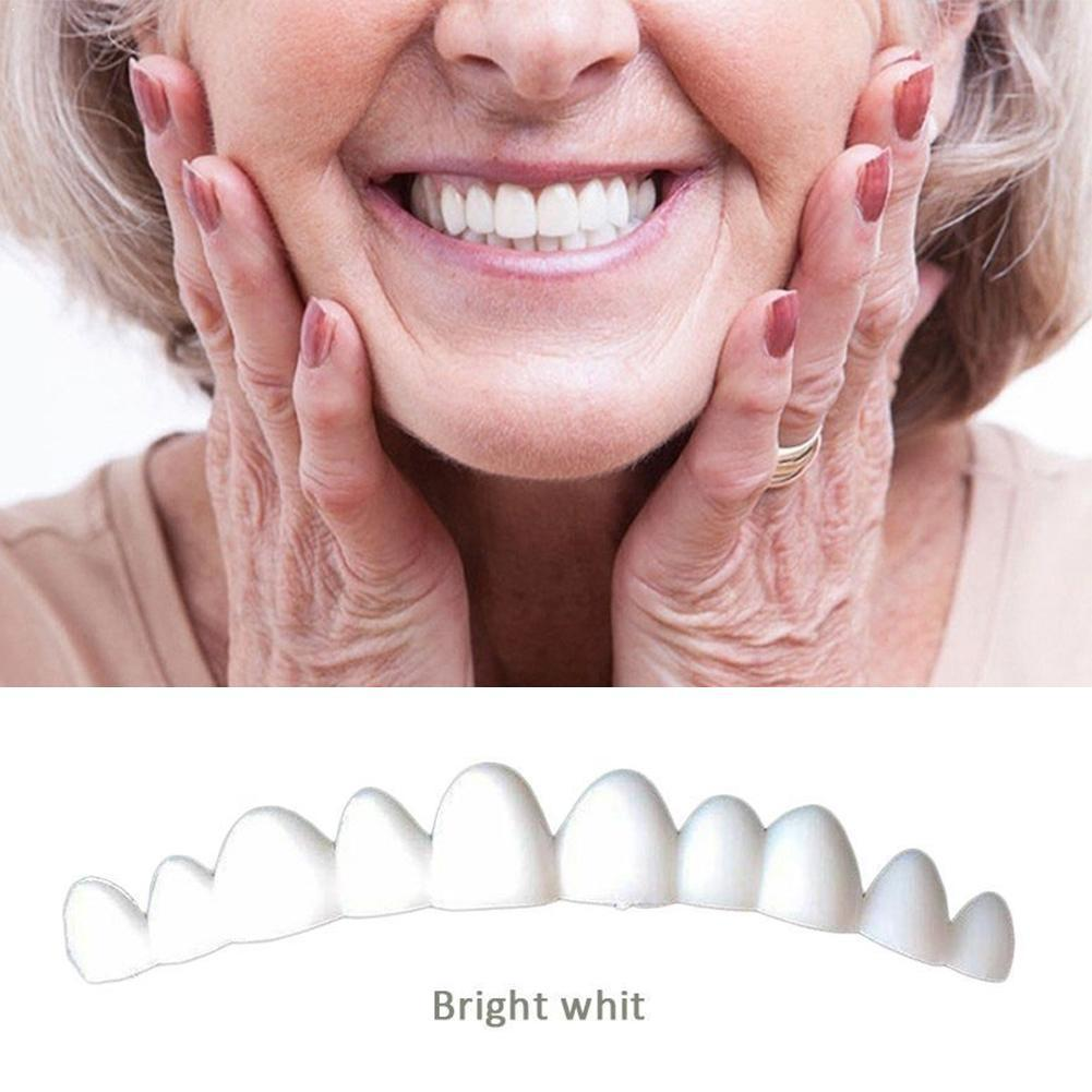 1pc Natural Color Teeth Denture Dental Veneers For Teeth False Teeth Veneers Removable Smile Q9W2