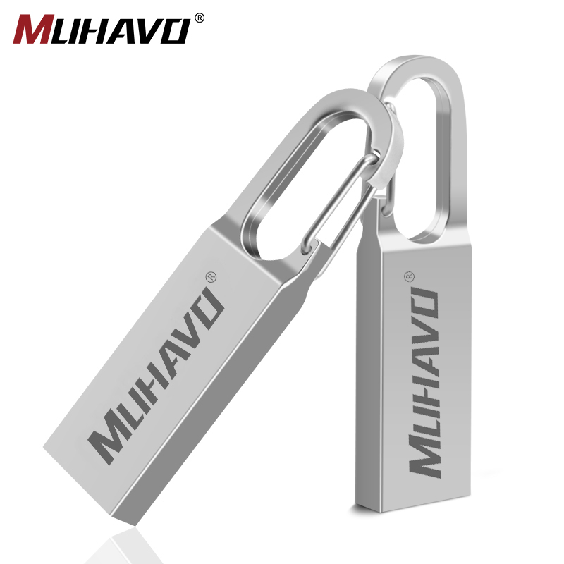 Metal Usb Flash 64gb Pen Drive 128gb Waterproof Pendrive 32gb 16gb Usb Flash Drive 8gb Flash Memory Stick Usb Disk Custom Logo