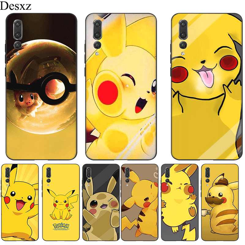 Mobile Phone Case untuk Huawei P Smart Z Plus Huawei P30 P20 P10 P9 P8 Lite Pro Cover Pokemon Eevee pika