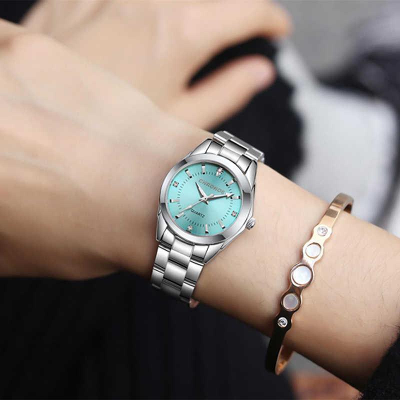 Di lusso Delle Donne Della Vigilanza della Fascia Dell'acciaio inossidabile Del Quarzo Semplice Delle Signore Orologio Da Polso Impermeabile Relogio Feminino Relojes Mujer 2019