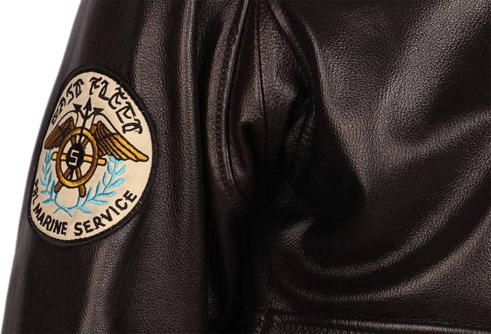 H85733d3eb55a41d09cbb48d17295e6afH Vintage Distressed Men Leather Jacket Quilted Fur Collar 100% Calfskin Flight Jacket Men's Leather Jacket Man Winter Coat M253