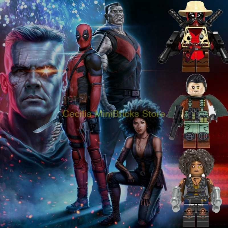 Once Upon A Deadpool Cable Colossus Domino Building Blocks Marver Thanos Toys for Children Avengers Endgame