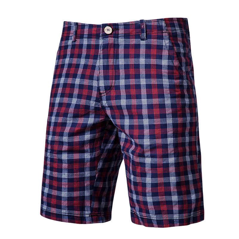 2020 New Summer Plaid Shorts Men 100% Cotton High Quality Fitness Men Short Pants Casual Social Style Knee Length Male Shorts