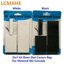 Alta qualidade 3in1 kit 3 em 1 novo memeory cartão porta slot cobre tampa da aleta para nintendo wii console reparação peças de reposição