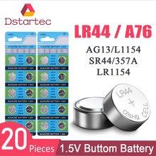 Lot de 20 Batteries boutons, 30mAh, 1.55V, AG13, LR44, L1154, RW82, RW42, SR1154, SP76, pila, SR44, pour montre, jouets, télécommande, etc.