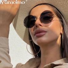 Lunettes de soleil rondes Vintage pour femmes, lentille de couleur océan, miroir, Design de marque, monture en métal, lunettes circulaires Modis Oculos