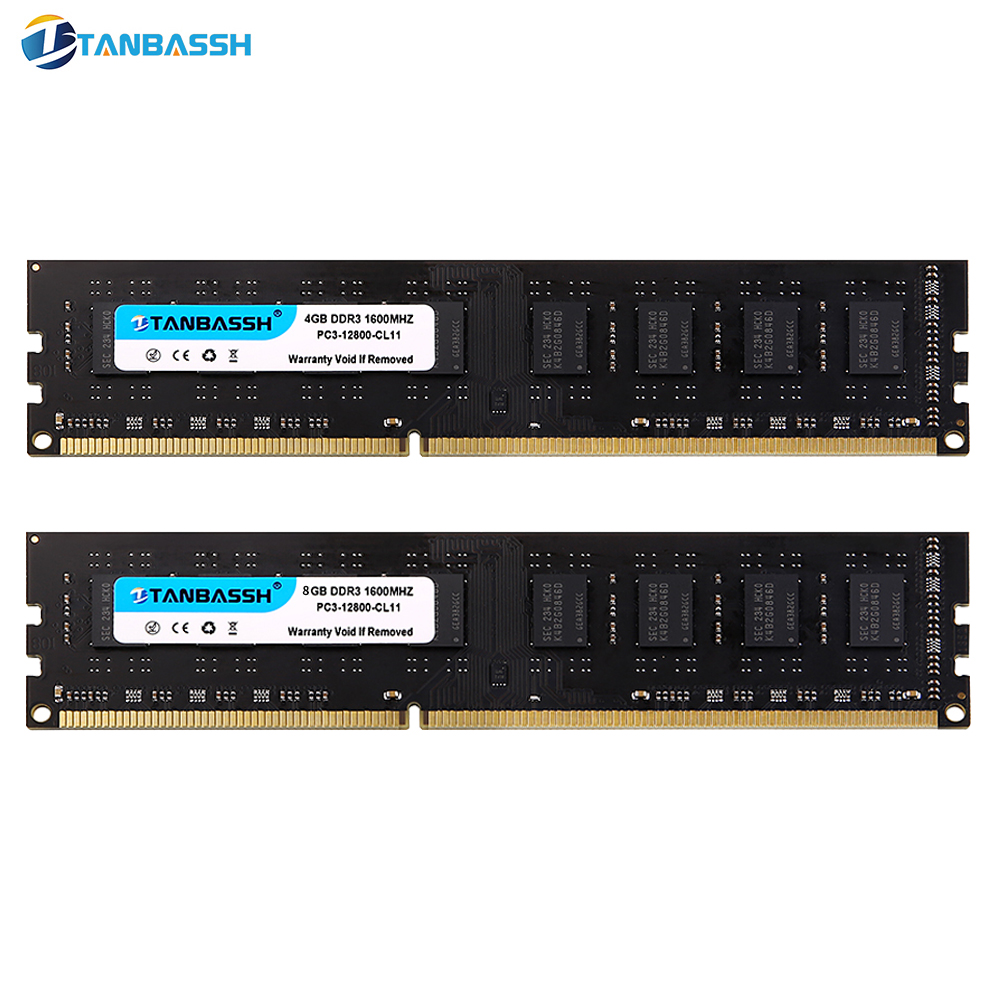 TANBASSH Ram DDR3 4GB 8GB 1333MHZ 1600MHz Desktop Memory 240pin 1.5V DIMM 4GB 8GB Intel with heat sink Suitable for dual channel