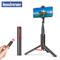 Lewinner seajic Mini bluetooth Selfie Stick Monopod Tripod All In One Integrated Detachable Tripods Selfie Sticks for Iphone