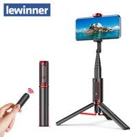 Lewinner seajic Mini bluetooth Selfie Stick Monopod Tripod All In One Integrated Detachable Tripods Selfie Sticks for Iphone