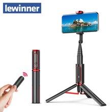 Lewinner seajicミニbluetooth selfieスティック一脚三脚オールインワン統合取り外し可能な三脚selfieスティックiphone