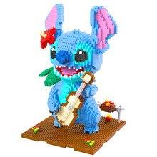 2882 adet + 1044 Brainlink oyuncaklar sihirli blok sevimli Wink gitar dikiş elmas Mini blok karikatür modeli yapı oyuncak