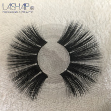 LASHAP 25mm Long 3D mink lashes  extra length faux eyelashes Big dramatic volumn thick false eyelash