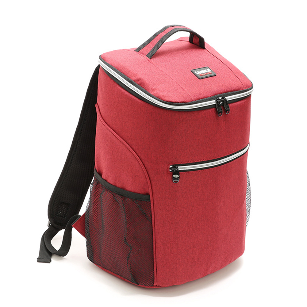 20L Outdoor Insulated Bag Camping BBQ Picnic Food Freshness Cooler Adjustable Shoulder Strap Cooler Lunch Tote Thermal Bento Bag