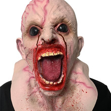 Funny Adult Party Mask Silicone Monster Mask Cosplay Full Face Horrible Scary Masks Masquerade Halloween Party Decoration Z0710