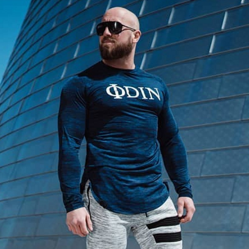 E-BAIHUI Autumn New Long-sleeved T-shirt Men's Sports Tight-fitting Quick-drying Round Neck Bottoming Shirt