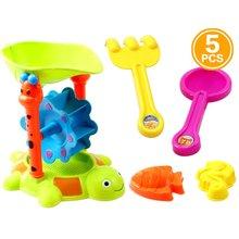 5шт/комплект дети пляж игрушки инструмент замок из песка пластиковые Дюна для детей