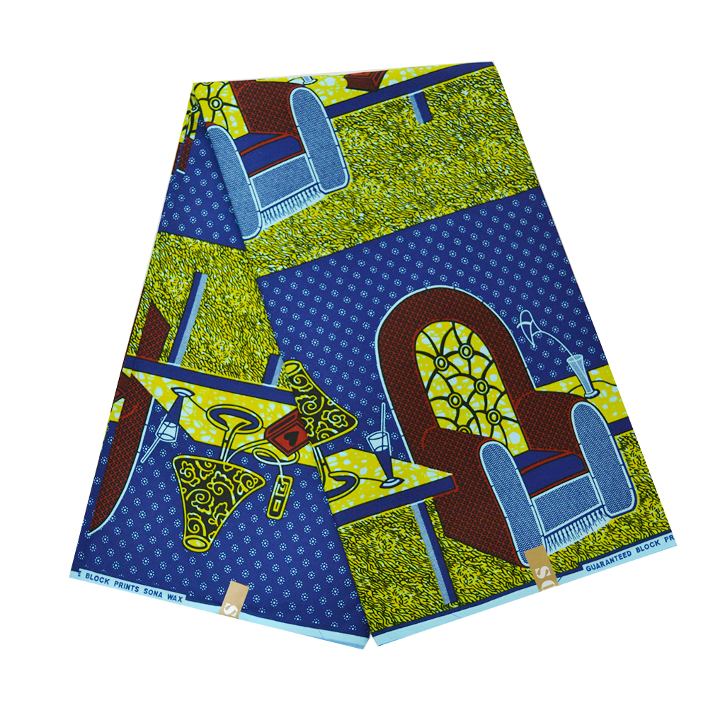 2019 High Quality African Real Wax Fabric For Dress Block Print Tissue Ghana Nigerian Wax Materials For Sewing Black Friday Sale