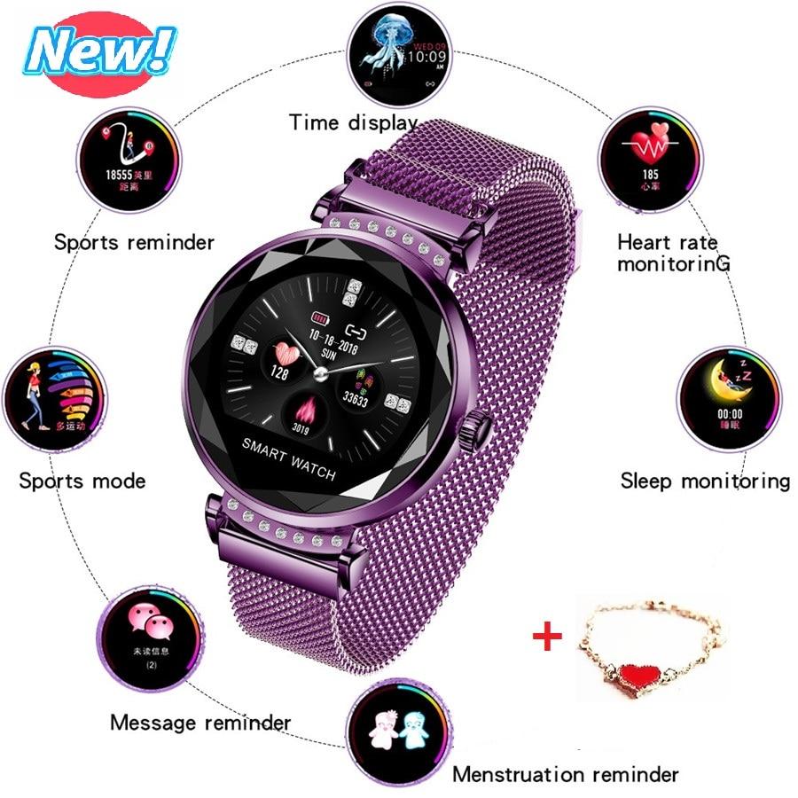 Nouveau femmes montre intelligente LED écran d'affichage de mode marque de luxe dames montre-bracelet multifonction étanche montres reloj mujer