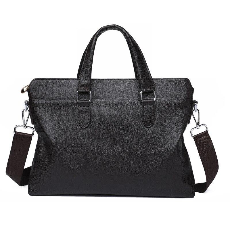 Купить с кэшбэком 2020 New fashion genuine leather men's bag handbag brand business briefcase casual laptop bags cowhide shoulder messenger bag